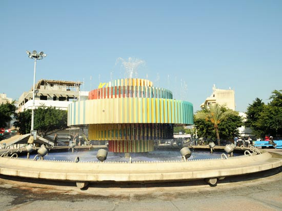המיזרקה בכיכר דיזנגוף בתל אביב / צלם: תמר מצפי
